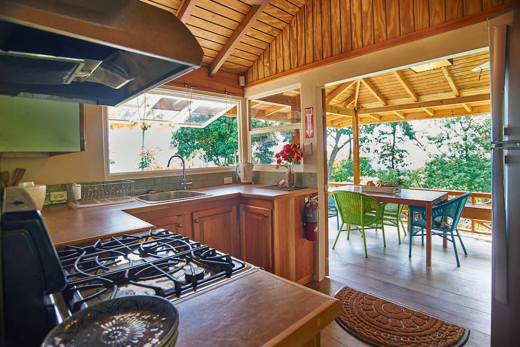 The cottage comes with a private fully-functioning kitchenette.