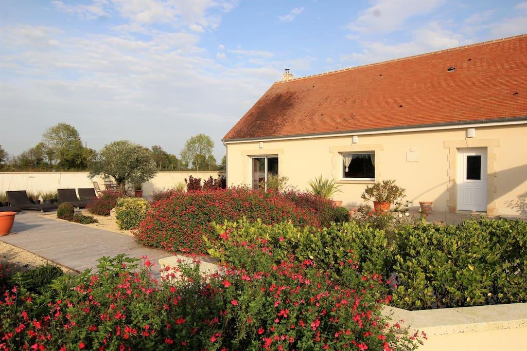 logement entier 6 personnes le domaine de prune maisons louer tour en bessin normandie. Black Bedroom Furniture Sets. Home Design Ideas