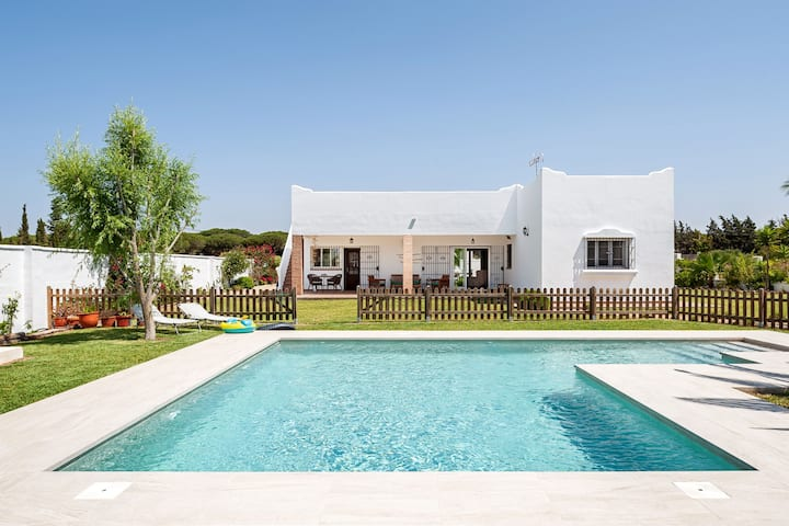 Beautiful Home Short Drive from Beach with Pool, Terraces & Large Garden; Parking Available
