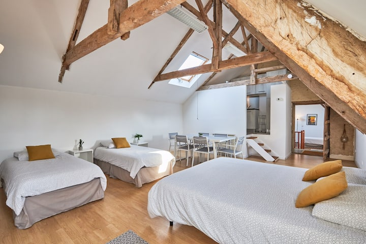 Loft for Eight People in a Historic Listed Manoir