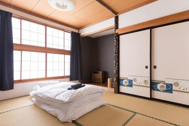 Kaiya Nozawa tatami room with share bathroom