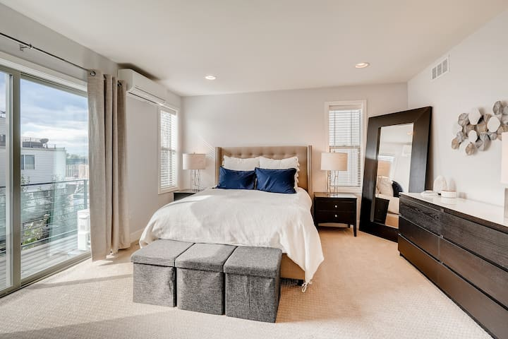 Master Bedroom #1 with outdoor balcony and ensuite 5-piece bath