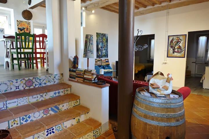 Ceramics on stairs