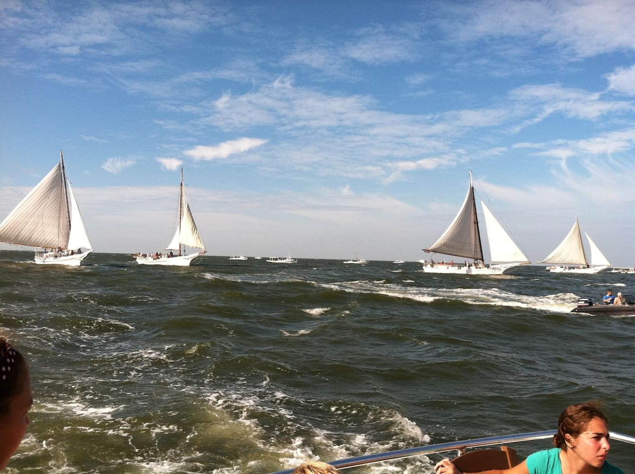 Photo's coming soon. This is at the Labor Day Deal Island Skipjack race.