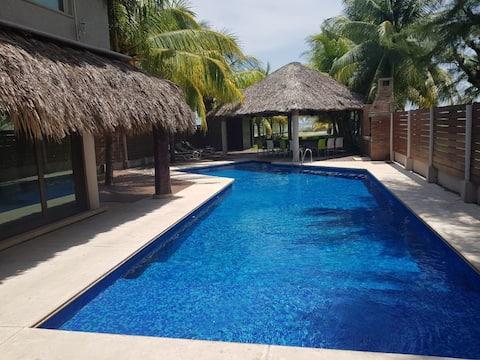Casa de Playa con vista al Mar familiar