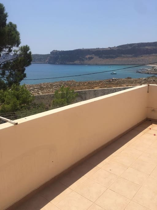 view of the sea from