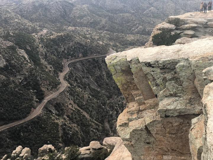 Winding  road to Windy Point