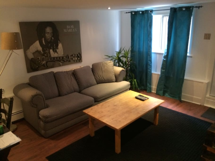Comfortable living room with sat tv and surround sound for those rainy nights in.