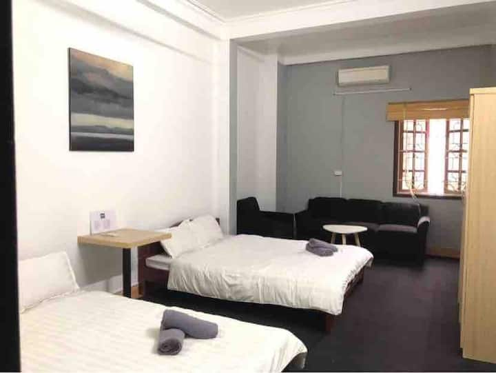 Simple 2 beds studio 1 min to Lotte in Ba Dinh