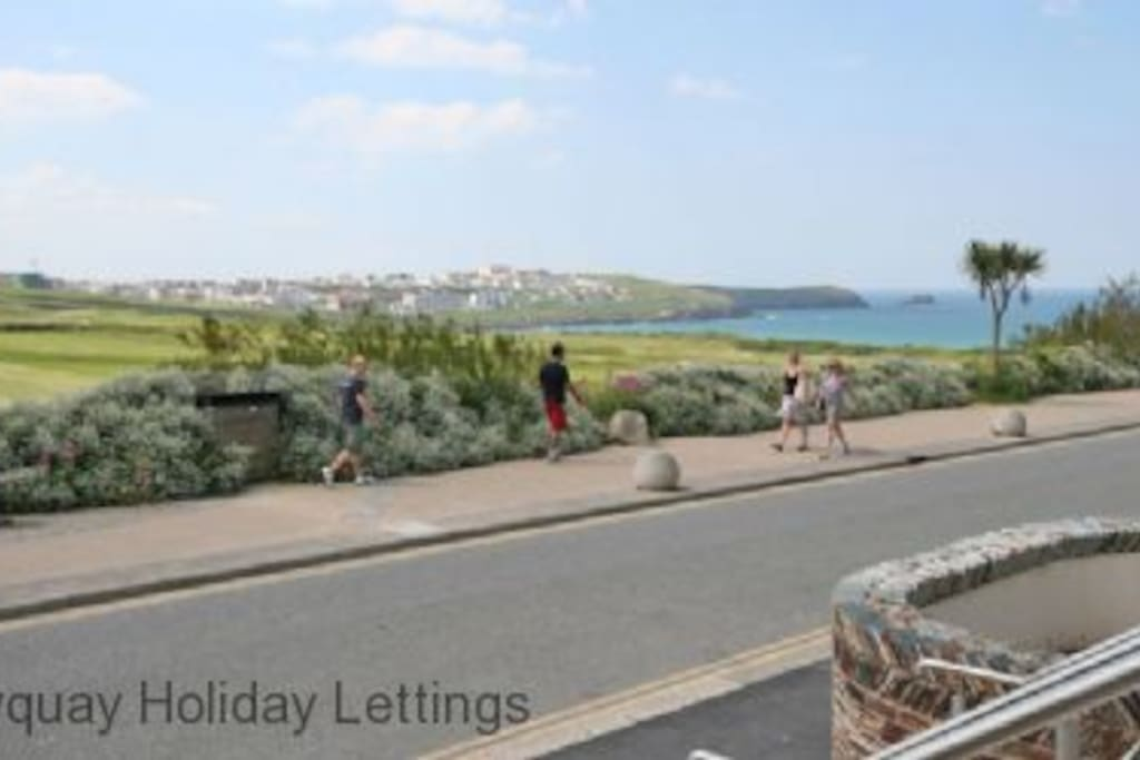 The view from the front terrace towards Fistral
