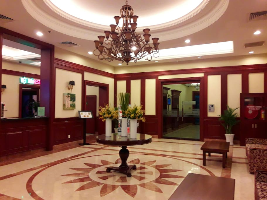 Luxury lobby with staff & Guard 24/7