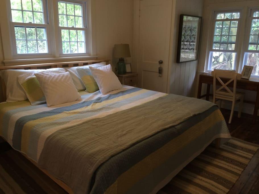 Master Bedroom, king bed including TV