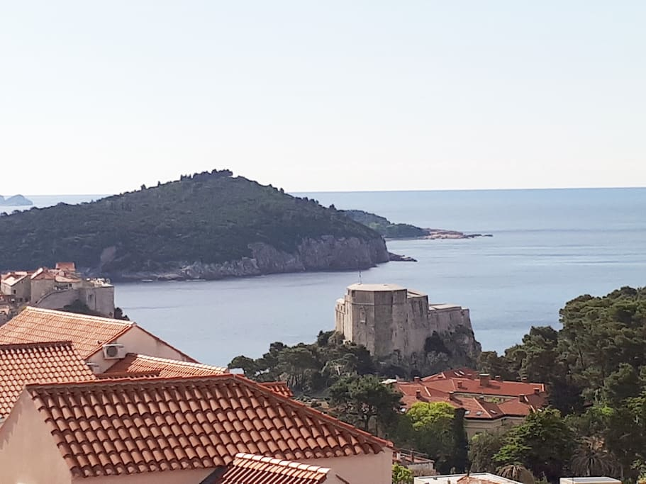 View to the Old Town and Lokrum