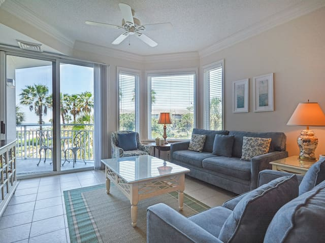 Living Room with Balcony Access at 2208 Sea Crest