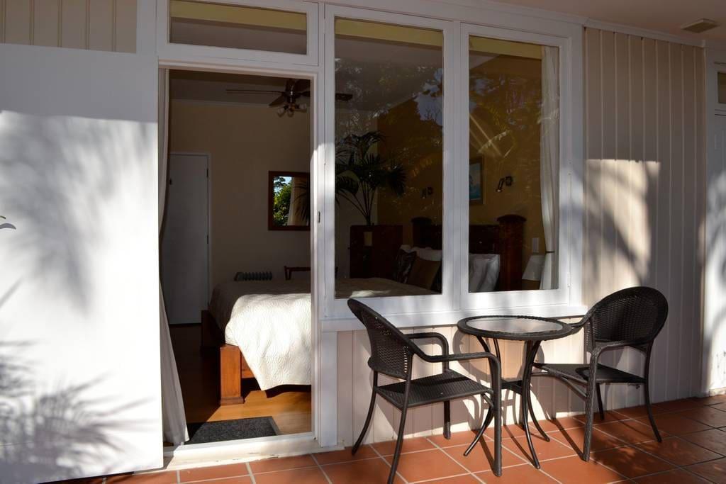 Nikau Room outside seating.