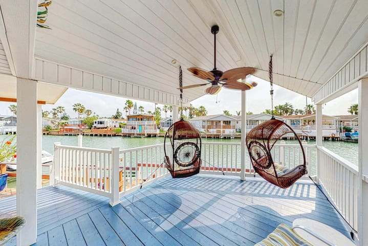 Waterfront home w/ shared pools, hot tub, private deck - dogs OK