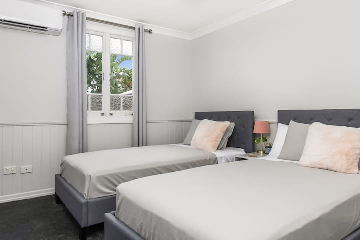 Two King Single Beds with built in robe