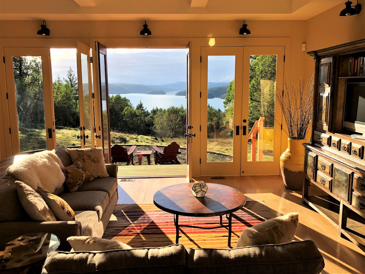 Watch the sunset from the living room