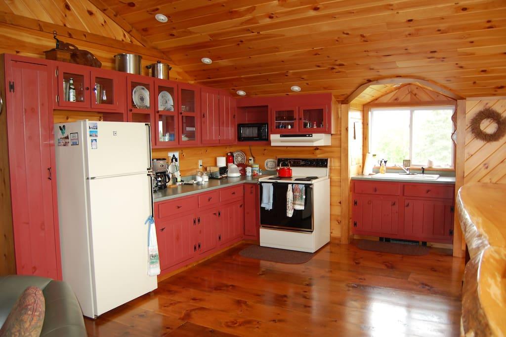 Druid Hill Downeast's spacious kitchen