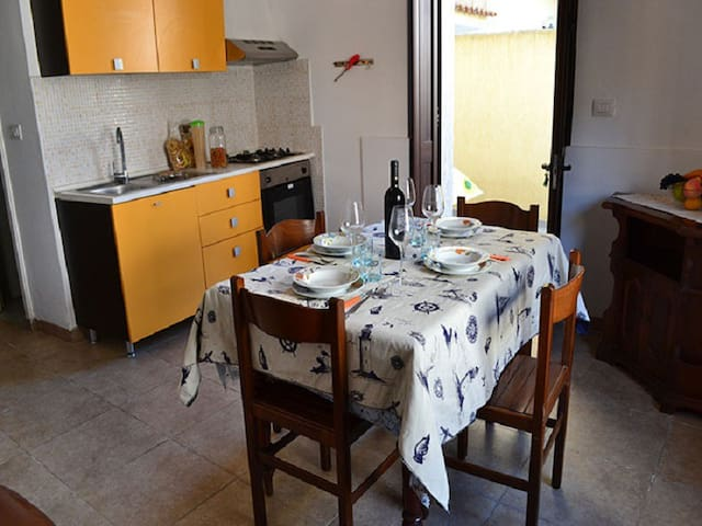 Charming Apartment on the Seaside with Small Courtyard; Pets Allowed