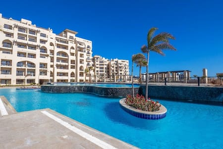 Luxury 3 bedroom apartment in a private compound.
