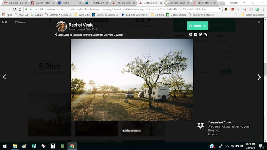 BYO RV/Tent & Boondock Vineyard & Winery on Lake!