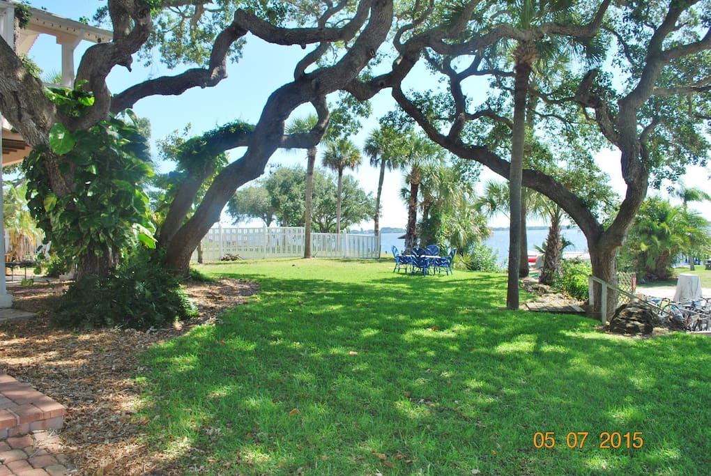 Front lawn on the waterfront