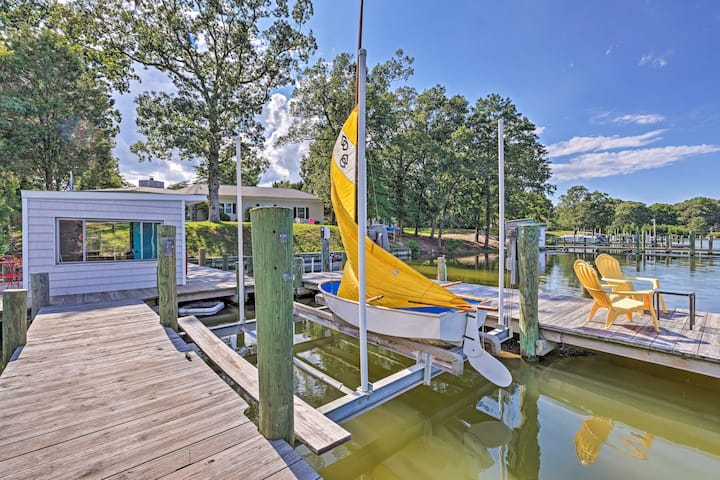 NEW! Waterfront Haven with Private Dock & Kayaks!