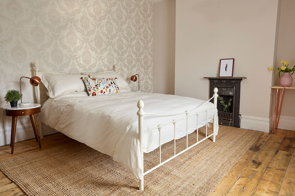 Quiet bedroom with King size bed