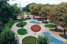 Fitness/adrenaline park and the Botanical garden - just 4 min. walk away