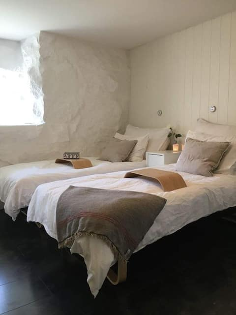 Centrální ubytování v Fredrikstadu s 1 ložnicí.