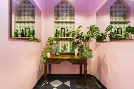 Moroccan 2 bedroom apartment with rooftop garden - New Delhi