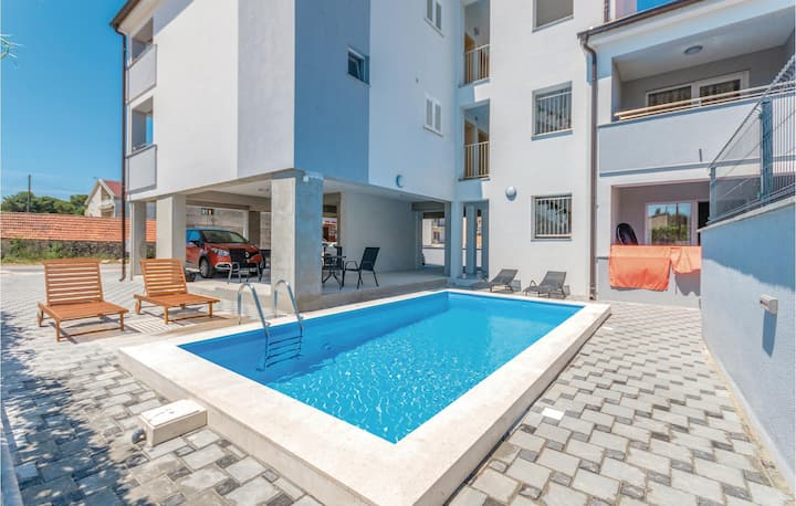 Amazing home in Biograd na Moru with WiFi, 0 Bedrooms and Outdoor swimming pool