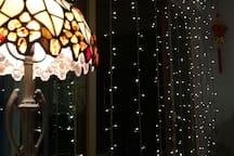 Our Starlight Curtain + Amber Lamp