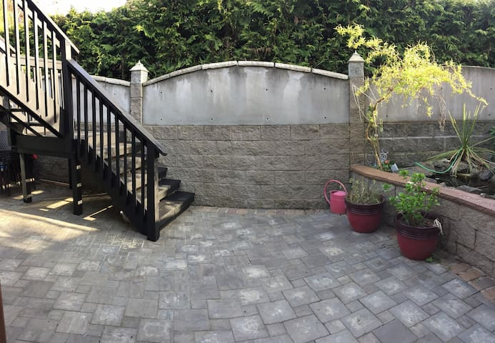 Courtyard and stairs to your suite