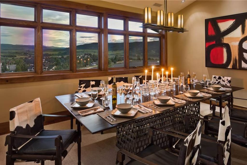 Dining Room with Views of the Valley