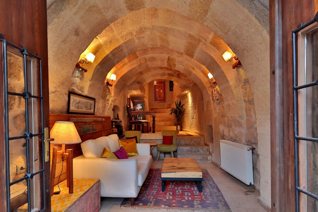 Elaa is an Authentic boutique cave hotel in a traditional restored village home .