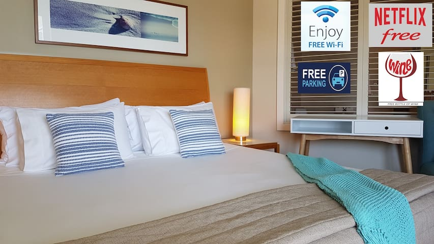 Free - Wifi, Netflix, Parking, Bottle of Wine, Use of Bikes / snorkel gear / beach umbrella and personal touches!