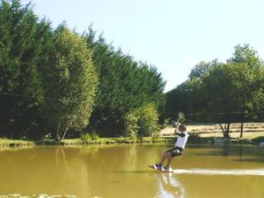 Zip line over the pond