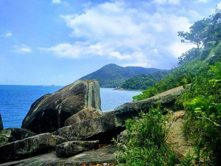Ilha Prainha Branca - vista da costa