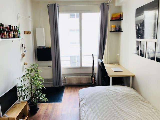 Agréable petit studio en plein coeur de Paris
