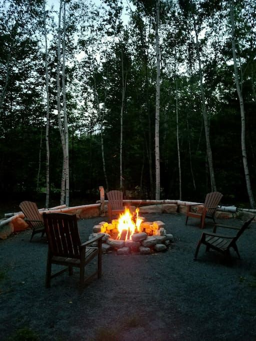 Best fire pit ever! We supply all the firewood!