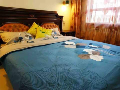 北欧风两室两厅度假屋/温馨舒适/智能密码锁/网络电视/(阿拉善左旗)