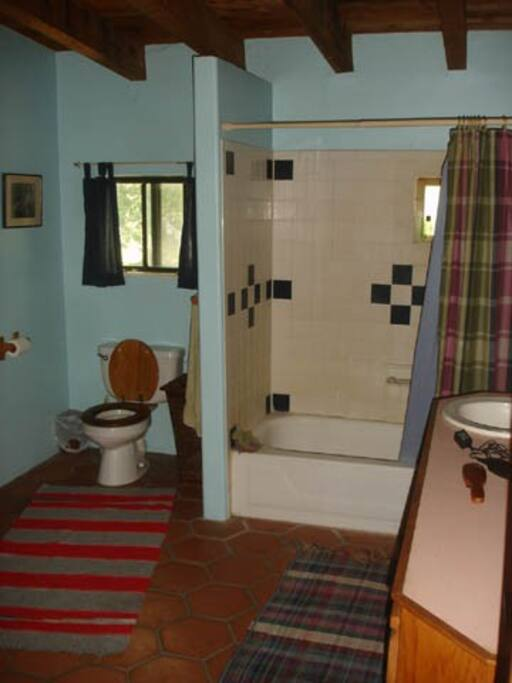 One of the three bathrooms.