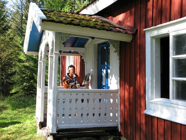 Röjängen huis bij National Park Tiveden Tived - Laxå S - Huis