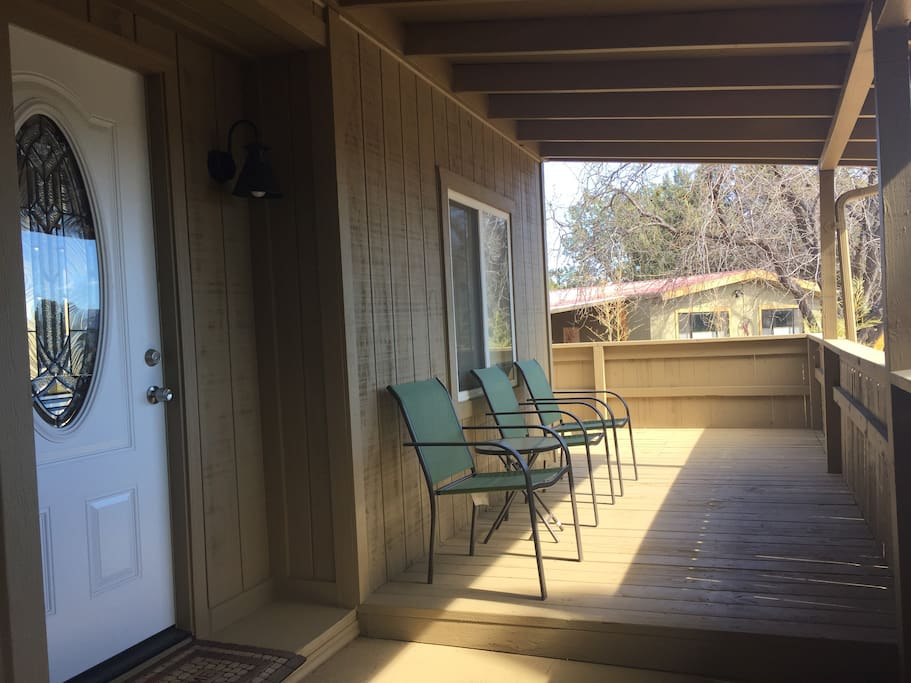Front porch with seating