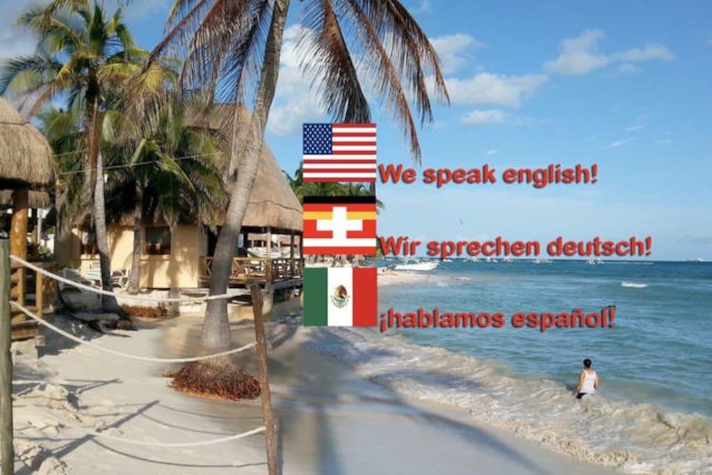 We speak german, english and spanish!