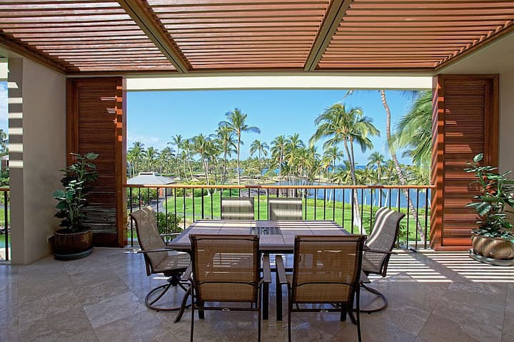 MB301-Oceanfront Mauna Lani Condo - Steps to Beach!