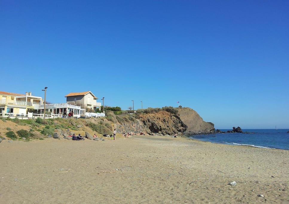 La plage vue de la villa