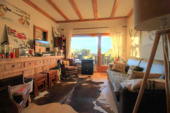 Appartement cosy avec une vue splendide.